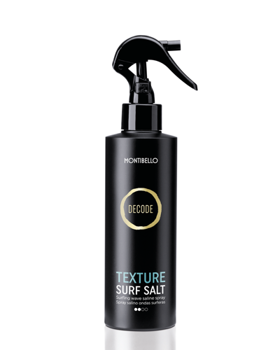 Montibello, Decode, Texture Surf Salt, spray z dodatkiem soli morskiej, 200 ml